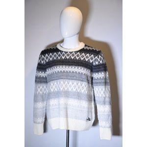 Burberry Brit White Grey Sweater